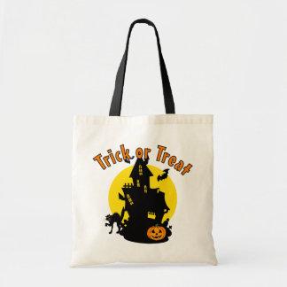 お化け屋敷のトリック・オア・トリートのハロウィンのバッグ トートバッグ