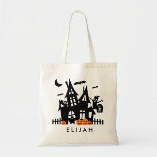 お化け屋敷のハロウィンのトリック・オア・トリートのキャンバスのバッグ トートバッグ