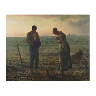 お告げの祈り1857-59年 ウッドウォールアート