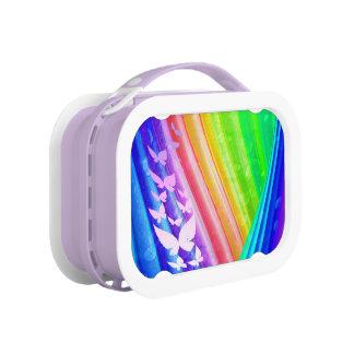 お弁当箱、Abstratの虹のデザイン ランチボックス