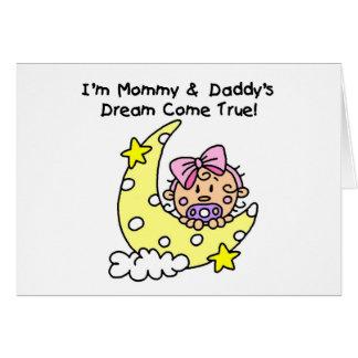 お母さんおよびお父さんの夢のTシャツおよびギフト カード