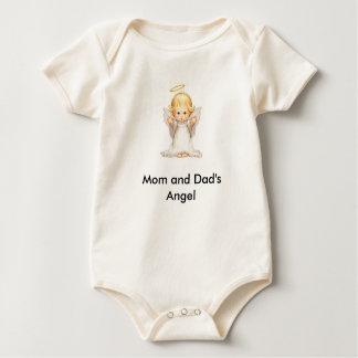 お母さんおよびパパの天使 ベビーボディスーツ