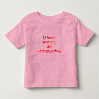 お母さんがいいえ…言わなければ(赤) トドラーTシャツ