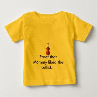 お母さんがチェロを…好んだこと検査して下さい ベビーTシャツ