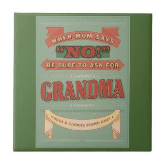 お母さんが断るとき、祖母を頼んで下さい。 タイル