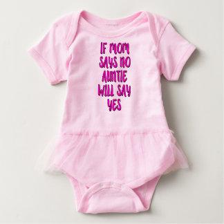 お母さんが断れば、伯母さんはワイシャツ姪の賛成します ベビーボディスーツ