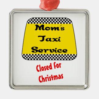 お母さんのお母さんのタクシーのためのオーナメント: クリスマスのために閉められている メタルオーナメント
