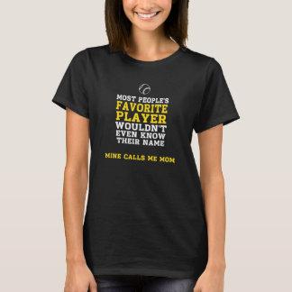 お母さんのお気に入りのなBB/SBプレーヤーの暗いワイシャツの胸だけ Tシャツ