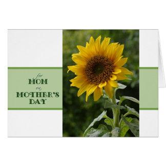 お母さんのすばらしいヒマワリカードのための母の日 グリーティングカード