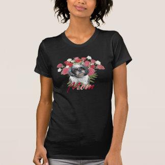 お母さんのためのシーズー(犬)のTzuのバラ Tシャツ