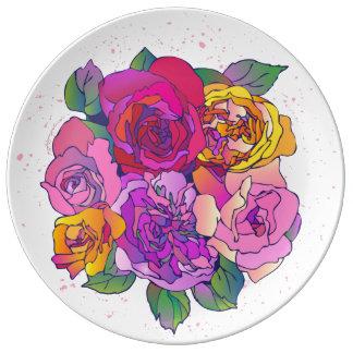 「お母さんのための半ダース」の磁器皿 磁器プレート