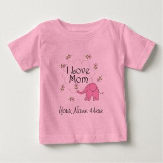 お母さんのための名前入りな母の日のベビーのギフト ベビーTシャツ