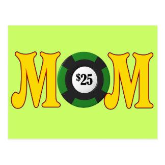 お母さんのための賭博のTシャツそしてギフト ポストカード