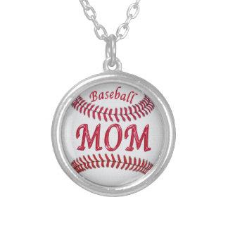 お母さんのための野球のネックレス シルバープレートネックレス
