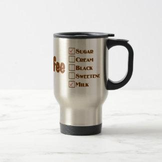 お母さんのコーヒー・マグ: ミルクおよび砂糖が付いているコーヒー トラベルマグ