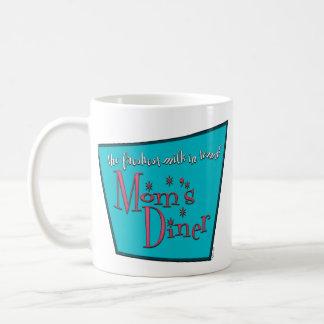 お母さんのダイナーのレトロの親母乳で育てるデザイン コーヒーマグカップ