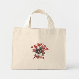 お母さんのバッグのためのシーズー(犬)のTzuのバラ ミニトートバッグ