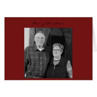 お母さんのパパのクリスマスカード カード
