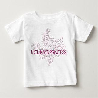お母さんのプリンセスのペイズリーのベビーのTシャツ ベビーTシャツ