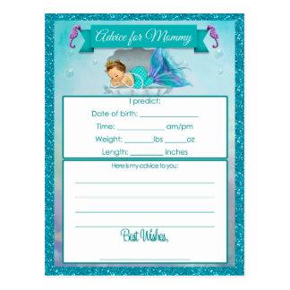 お母さんのベビーシャワーカードのためのアドバイス ポストカード