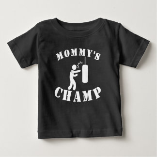お母さんのボクシングのチャンピオン ベビーTシャツ