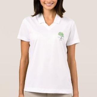 お母さんの体の精神1/2のジッパーの綿のプルオーバー ポロシャツ