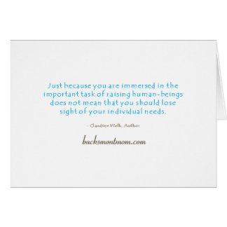 お母さんの信念のメッセージカード カード