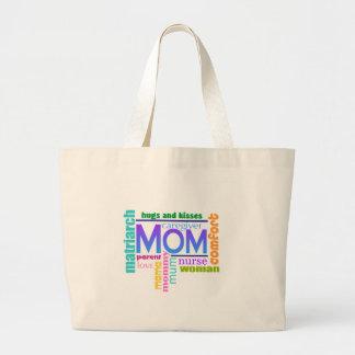 お母さんの単語の芸術のトートバック ラージトートバッグ