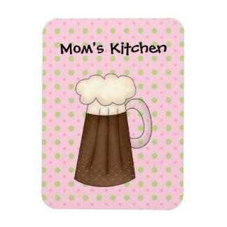 お母さんの台所アイスクリームの浮遊物(あなた自身の文字を加えて下さい) マグネット