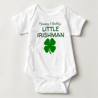 お母さんの小さいアイルランド人 ベビーボディスーツ