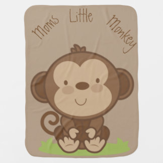 お母さんの小さい猿 赤ちゃん用毛布