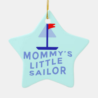 お母さんの小さい船員 セラミックオーナメント