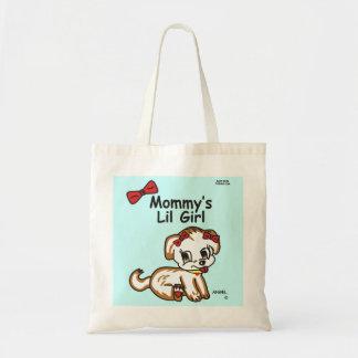 お母さんの小さな女の子のトートバック トートバッグ