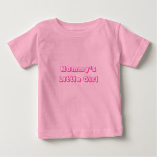 お母さんの小さな女の子 ベビーTシャツ