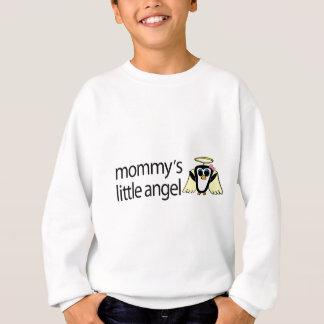 お母さんの少し天使の女の子のペンギン スウェットシャツ