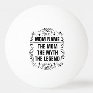 お母さんの幸せな母の日 卓球ボール
