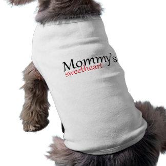 お母さんの恋人犬のワイシャツ ペット服