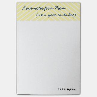 お母さんの愛ノートあなたの|リストのメモをするため ポストイット