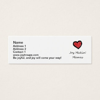 お母さんの接触カード スキニー名刺