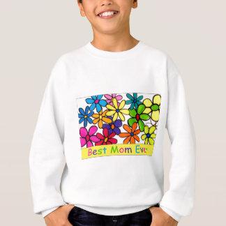 お母さんの最も最高のなお母さんの花 スウェットシャツ