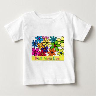 お母さんの最も最高のなお母さんの花 ベビーTシャツ
