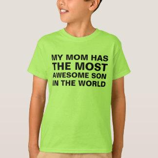 お母さんの最も素晴らしい息子の発言 Tシャツ