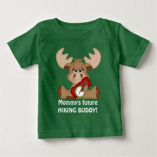 お母さんの未来のハイキングの相棒のTシャツ ベビーTシャツ