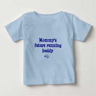 お母さんの未来の連続した相棒 ベビーTシャツ