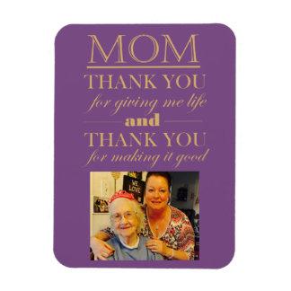 お母さんの母の日の写真の磁石ありがとう マグネット
