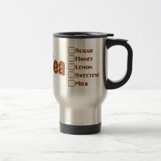 お母さんの熱い茶マグ: 完全になされる熱い茶 トラベルマグ