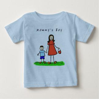 お母さんの男の子のワイシャツ(ブルネット) ベビーTシャツ