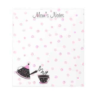 お母さんの茶ポットのメモ帳 ノートパッド