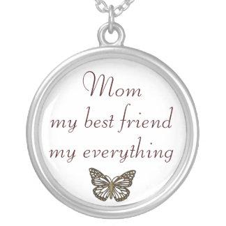お母さんの親友すべてネックレス シルバープレートネックレス