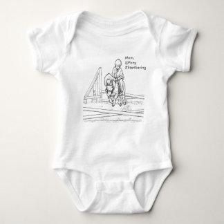 お母さんの開始のセービングの子馬のワイシャツ ベビーボディスーツ